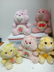 1980s Kenner Care Bears Lot of 5 Bears- Vintage Stuffed Plush 7 inches