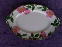 "Franciscan DESERT ROSE Oval Serving Platter Plate Tray 13"" USA"