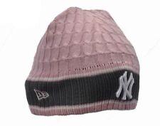 New Era Beanie Hat NY Yankees Pink and Grey Reversible