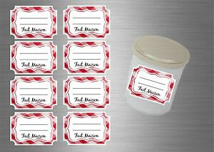 8/16/24/48/96x sticker pot label  jam kitchen jelly marmalade preserves homemade