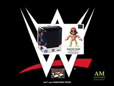 WRESTLING - WWE - ACTION VINYLS - MACHO MAN FIGUR MIT RAW RING TEIL - NEU/OVP