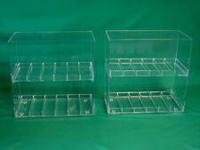 """Two (2) Display Cases for E-Juice, E-Cigarette, E-liquid, 1¼"""" Slot Size"""