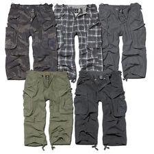 Brandit Industrie 3/4 Knielang Shorts Military Armee Vintage Cargo Combat