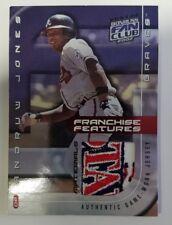 2002 Donruss Fan Club Andrew Jones Patch Jersey Card /175