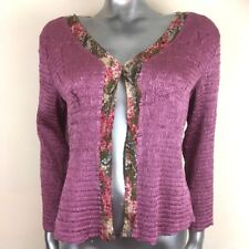East Lavender Pink Smocked  Jacket Top Stretch Hand sequinned Small Medium