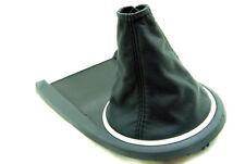 Fits 03-08 Hyundai Tiburon Synthetic Leather Manual Shift Boot Black Stitch