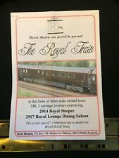 More details for hurst models ck3312 royal train conversion kit, sleeper and lounge dining saloon