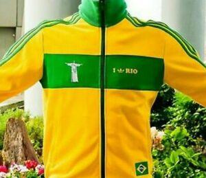 RARE adidas OG  Men's  BRAZIL Seleção  RIO TRACK TOP  MFG: 2006   YELLOW  LAST1