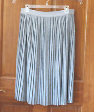 Ruff Hewn Grey Light Heather Gray Pleated Skirt  L  NWT   Orig. $60