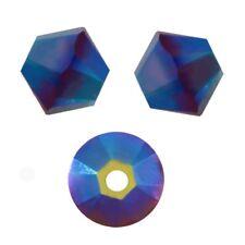 15 Perles Toupies 4mm Cristal Swarovski  - GARNET AB2X - 5301