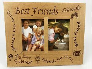 Malden Double Picture Wooden Frame 2.5 X 3.5 Best Friends