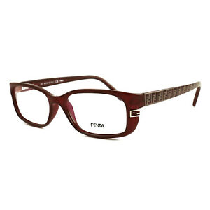 Fendi Women Eyeglasses FF999 603 Burgundy 28 52 17 Full Rim Rectangle