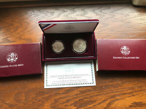 1998 Kennedy Collector's set: RFK silver dollar and Matte Finish JFK half dollar