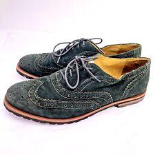 JOHNSTON & MURPHY Women's Size 7.5 Calfskin Wingtip Oxford Shoes Hunter Green