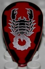 LeGo Castle Shield Ovoid Silver Scorpion Pattern on Dark Red Vladek
