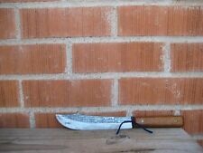 "Vintage 7"" Blade *** FORGECRAFT *** Small Sharp Carbon Steel Butcher Knife USA"