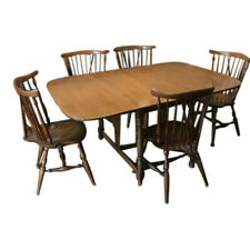 Ethan Allen Dining Room Set Baumritter Nutmeg Maple Table (6) Arrow Back chairs