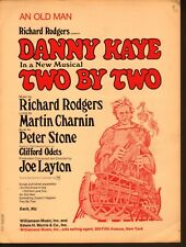 An Old Man 1970 Danny Kaye in Two By Two Sheet Music