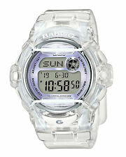 Casio Baby-G BG169R-7ECR Whale Series Women's Clear White Resin Digital Watch