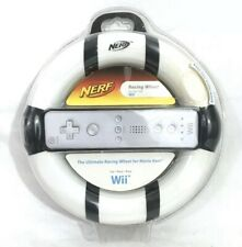 NERF Racing Wheel for the Nintendo Wii Video Game System White & Black