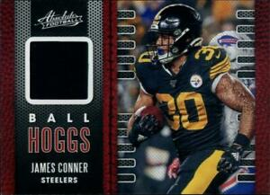 2020 ABSOLUTE BALL HOGGS JAMES CONNER RELIC PATCH CARD PITTSBURGH STEELERS