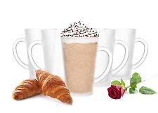 6  Latte Macchiato Gläser 300ml mit Henkel mit 6 Löffel (gratis) Milchglas
