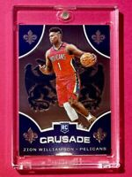 Zion Williamson HOT ROOKIE CRUSADE PANINI CHRONICLES RC NOLA PELICANS - Mint!