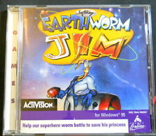 Earthworm Jim Activision PC CD-ROM Windows 95 Jewel Case Funny Action Adventure