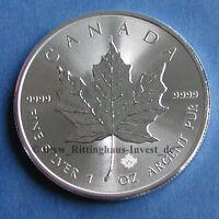 Silbermünze Maple Leaf 2017 1 Unze 9999 Silber silver 1Oz Oz Kanada coin