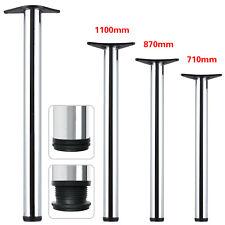 2/4Pcs Chrome Adjustable Breakfast Bar Table Legs Desk Kitchen 710/870/1100mm UK