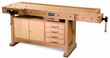 Hobelbank inkl. Einbauschrank - HOLZKRAFT HB 2010 für Schreiner Tischler - 136kg