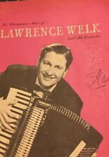 Vintage Lawrence Welk And Orchestra Program Autographed Circa 1953