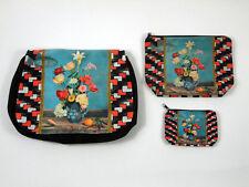 NATASHA FARINA - Sac bandoulière + 2 pochettes modèle Fleurs ♥️ rétro, vintage