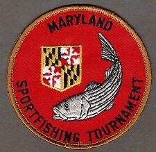 "Maryland Sportfishing Tournament 4"" Patch Unused"