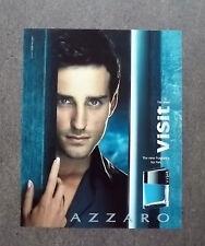 [GCG] K128- Advertising Pubblicità -2003- AZZARO VISIT , NEW FRAGRANCE FOR HIM