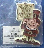 Hallmark PIN Thanksgiving Vintage PILGRIM MAYFLOWER of Life Holiday Brooch NEW