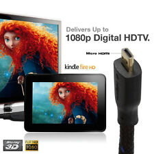 Ultra Micro HDMI to HDMI Cable - 1.8M for Blackberry Playbook Tablet, SmartPhone