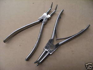 SNAP RING CIRCLIP PLIER SET OF 2 BENT NOSE PLIERS Internal & External