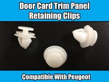 10X CLIPS FOR PEUGEOT 206 207 406 407 607 807 DOOR CARD RETAINING WHITE PLASTIC