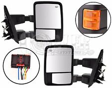 08-15 FORD F250 F350 F450 F550 SUPER DUTY POWER HEATED TOWING MIRRORS ORANGE