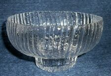 "Rosenthal Studio-Linie Crystal 5.5"" Dia. Glass Bowl STRUCTURE Series 1970's"