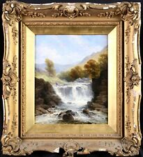 GEORGE BEETHOLME (1830-1880) SIGNED BRITISH OIL CANVAS - WATERFALL NORTH WALES