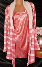 Nightgown/Peignoir Set. XL,NWOT Secret Treasures/NWT Toltally Pink.Pink & plaid.
