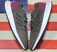 Adidas Pure boost Go Womens Boost Running Shoe Night Cargo Green Maroon [B75668]