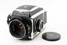 Bronica S2 Late Model S2A SLR Film Camera w/ NIKKOR-P 75mm f/2.8 From Japan