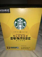 Starbucks Limited Edition Blonde Sunrise Blend Coffee Keurig K-Cups 22 Per Box