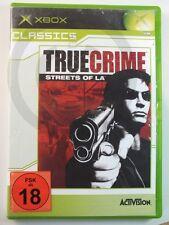 !!! XBOX CLASSIC GIOCO True Crime Streets of LA USK 18, usati ma ben!!!