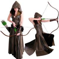 PU Leather Medieval Ranger Dress Adult Coat Cosplay Halloween Fancy Costume