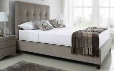5ft Walkworth Mink Fabric King Size Static Bed Frame  By Kaydian