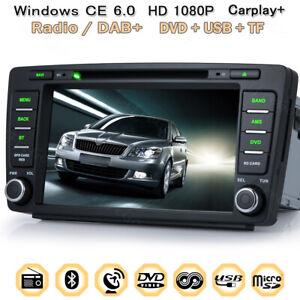 """DAB+ 8"""" DVD GPS CD Navigation Autoradio BT 2DIN Radio Für VW Skoda Octavia 2013"""